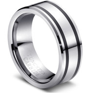 """Tungsten Ring """" High Polished """" simple and unique"""