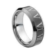 "Laser Engraved ""Tungsten Ring"""
