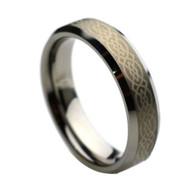 Laser Engraved Celtic Tungsten Rings