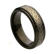 "Laser Engraved ""Tungsten Rings """