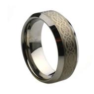 Laser Engraved Tungsten Ring