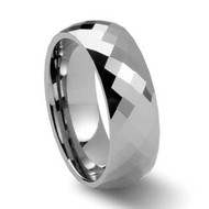 Faceted Tungsten Rings