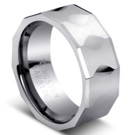 Faceted Tungsten Ring cobalt-free Tungsten Carbide