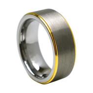"Tungsten Carbide Ring "" Matte & High polish """