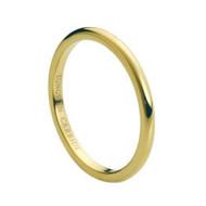 Gold Carbide Tungsten Ring