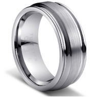 """TUNGSTEN RING """" Matte & High polished"""" deep polished"""