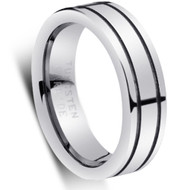 """Tungsten Ring """" High polished """" Comfort Fit Tungsten Wedding Bands"""