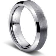 "Tungsten Ring "" Matte & Polished"""