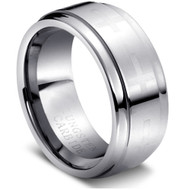"""Tungsten Ring Carbide Cross"""" High Polished """""""