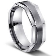"Tungsten Ring "" Matte & polished """