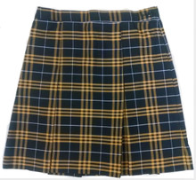 2-Kick Pleat Skirt PLAID P2V