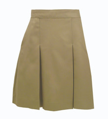 2-Kick Pleat Skirt KHAKI