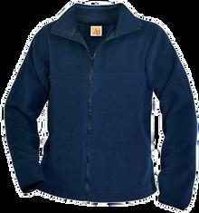 Full zip navy fleece jacket