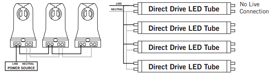 led t8 non shunted wiring diagram