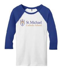 Raglan T-Shirt 3/4 Sleeve with Logo, Spirit Wear (1045)
