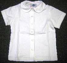 Short Sleeve Knit Peter Pan
