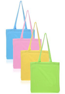 Pastel Colored Cotton Tote Bags