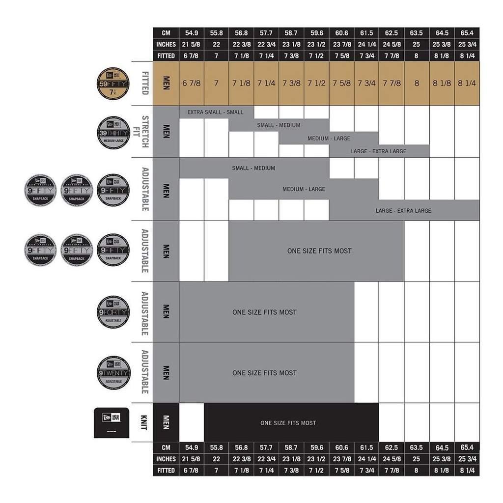 New Era Size Chart