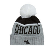 New Era Chicago White Sox Heathered Grey Pom Beanie