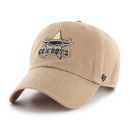 '47 North Qld Cowboys Clean Up Cap Khaki