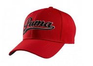 Red Puma City Script cool cap