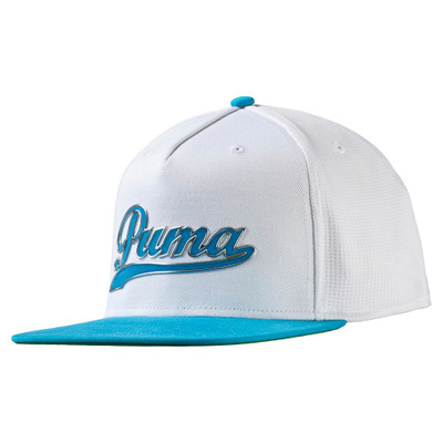Youth puma script snapback cap hat blue