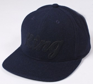 King Apparel Script Heritage 6 Panel Navy Cap