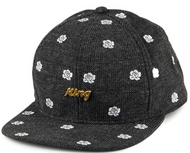 King Apparel Fucshia Snapback Black