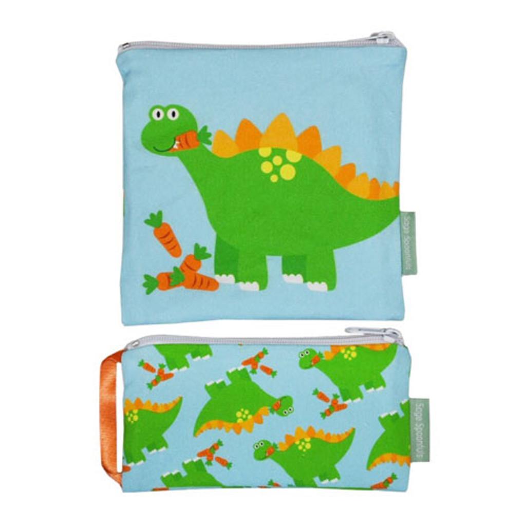 Dinosaur Snackie & Munchie Bag Set