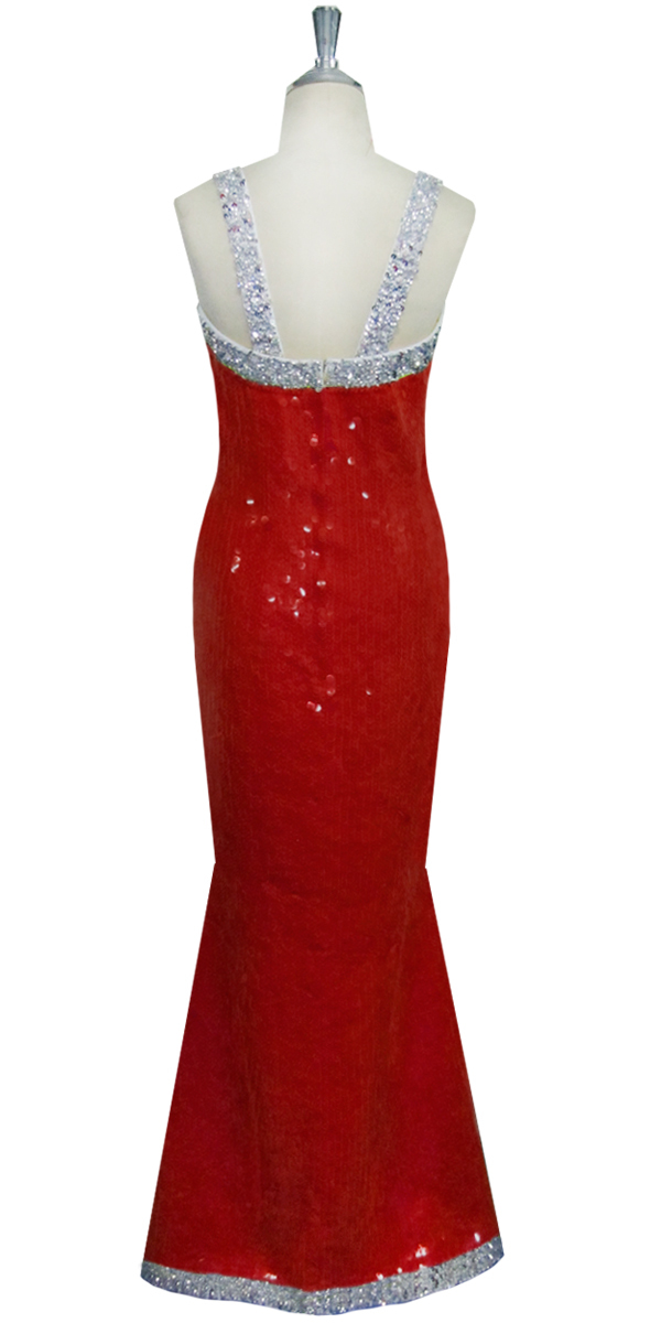 08e5764a455d Long Dress | Handmade | Fishscale Sequin Spangles | Red | Silver ...