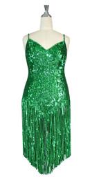Short Handmade Sequin Dress In Hologram Green 8mm Round Sequin Spangles