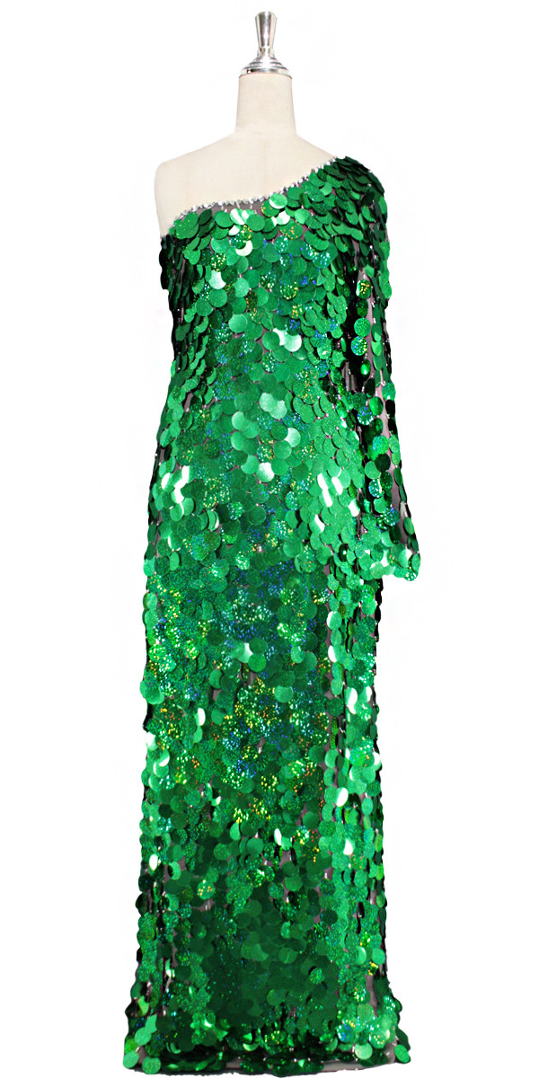 Long One-Sleeve Dress   Handmade   Paillette Sequin Spangles ...