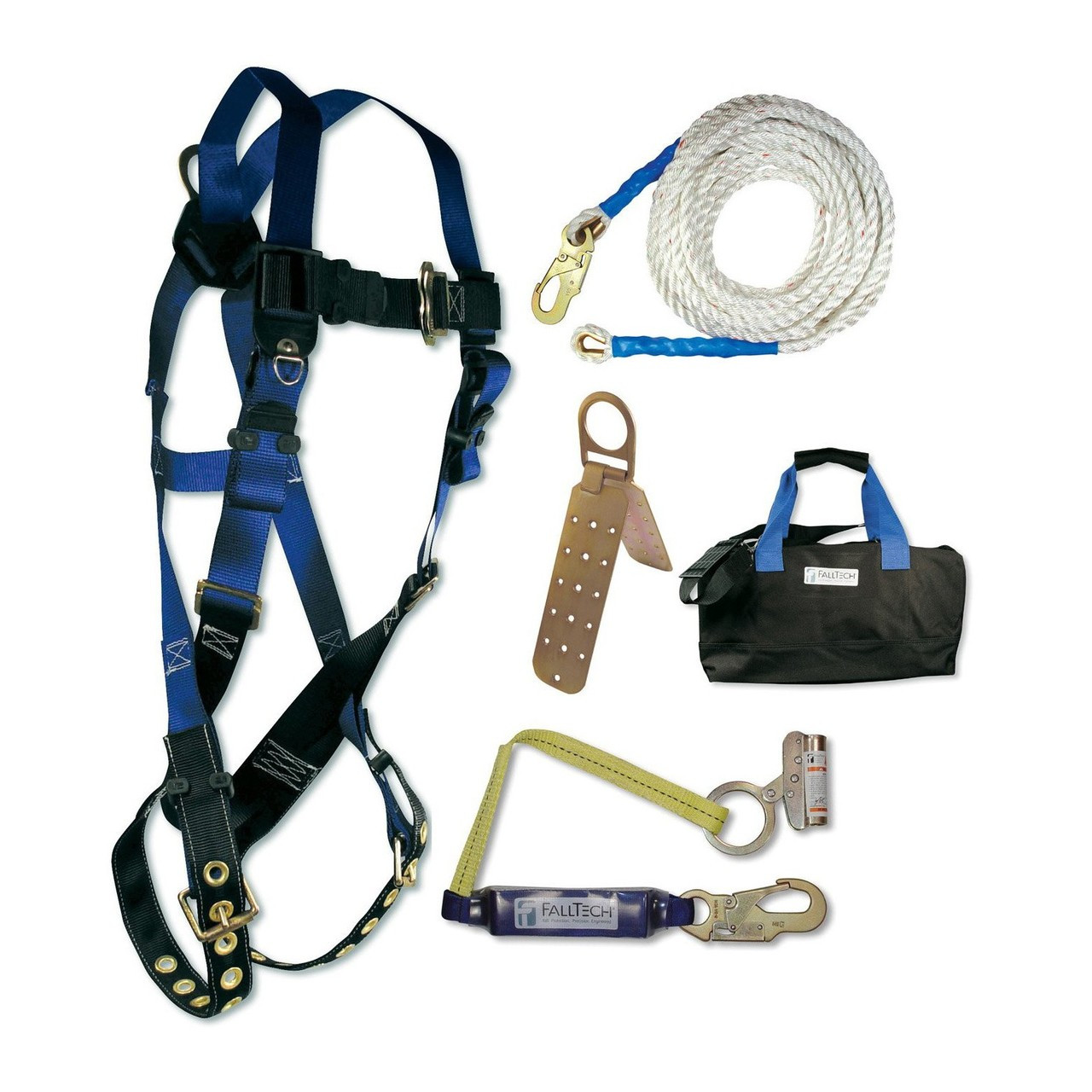 Falltech 8595ra Professional Roofers Kit With Storage Bag Roofing Harness Image 1