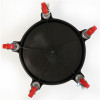 Grit Guard 5 Caster Bucket Dolly- Bottom View