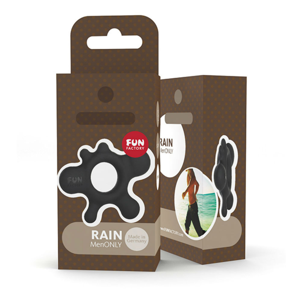 Fun Factory Rain Silicone Cock Ring (Black)