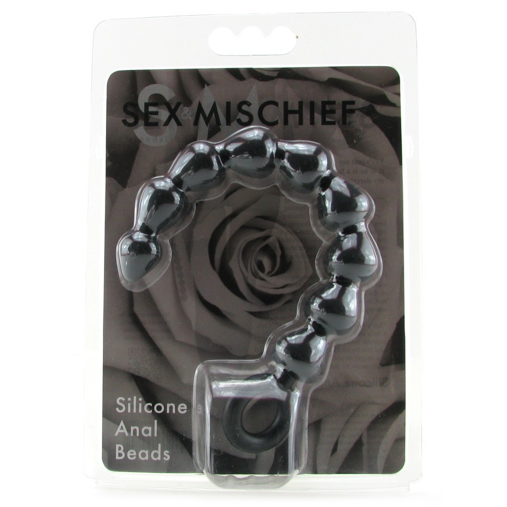 Sex  Mischief Black Silicone Anal Beads  Bondage Toys Lily Hush-7585