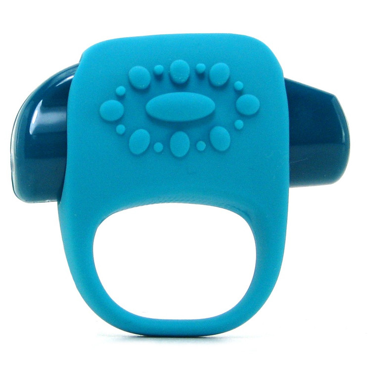Key By Jopen Ela Vibrating Cock Ring (Blue)