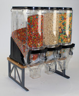 "Cereal Bamboo/Steel Stand with 6x18"" Bins (cereal not included)"