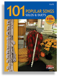101 Popular Songs Solos & Duets for Flute (Book/CD Set)
