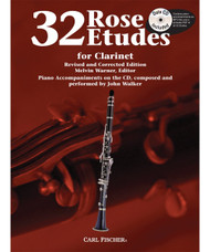 32 Rose Etudes for Clarinet by Melvin Warner (Book/CD Set)