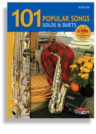 101 Popular Songs: Solos & Duets for Alto Sax (Book/CD Set)