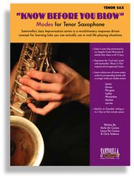 """Know Before You Blow"" Modes for Tenor Saxophone by Emile De Cosmo, Laura De Cosmo & Chris Tedesco (Book/CD Set)"