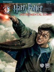 Alfred's Instrumental Play-Along - Harry Potter Instrumental Solos, Selections from the Complete Film Series, Level 2-3 for Tenor Saxophone (Book/CD Set)