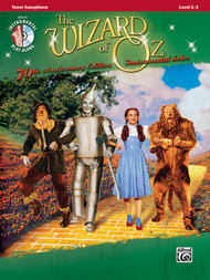 Alfred's Instrumental Play-Along - The Wizard of Oz Instrumental Solos 70th Anniversary Edition, Level 2-3 for Tenor Sax (Book/CD Set)