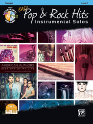 Alfred's Instrumental Play-Along - Easy Pop & Rock Hits Instrumental Solos, Level 1 for Trumpet (Book/CD Set)