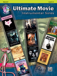 Alfred's Instrumental Play-Along - Ultimate Movie Instrumental Solos, Level 2-3 for Horn in F (Book/CD Set)