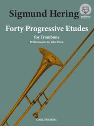 Sigmund Hering - Forty Progressive Etudes for Trombone (Book/CD Set)