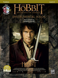 Alfred's Instrumental Play-Along - The Hobbit: An Unexpected Journey Instrumental Solos, Level 2-3 for Trombone (Book/CD Set)