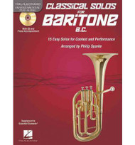 Hal Leonard Instrumental Play-Along - Classical Solos for Baritone B.C. by Philip Sparke (Book/CD Set)