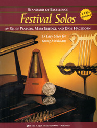Standard of Excellence: Festival Solos, Book 1 for Baritone B.C. by Bruce Pearson, Mary Elledge & Dave Hagedorn (Book/CD Set)